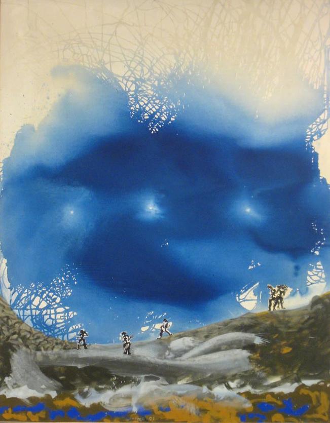 Dreigestirn - Acryl auf Leinwand, 2001 (160x130)