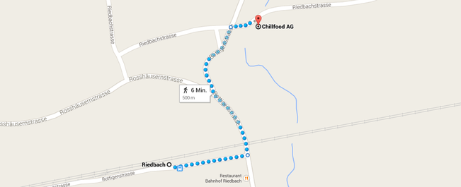 anfahrt chillfood, riedbach