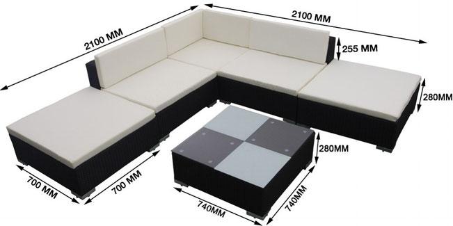 divano da esterni in polyrattan