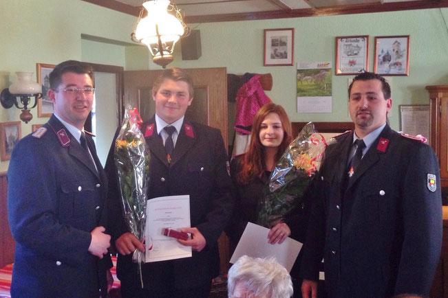 Im Foto von links: Dirk Niemann, Tim Krampe , Rebecca Grebbin, Daniel Belitz