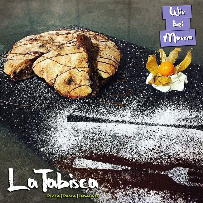 Focaccia Cioccolata - Schoko-Focaccia - kross gebackener Pizzateig gefüllt mit Nuttela..