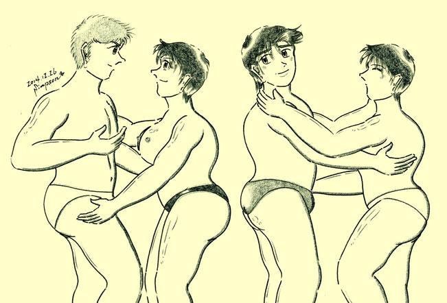 左からケネス、ミカ、ケンジ、マユミ