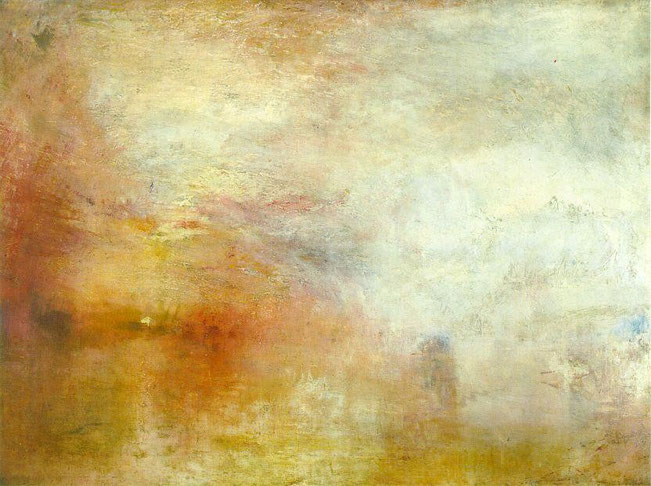 William Turner - Sun Setting over a Lake