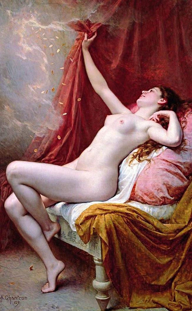 フランスの画家アレクサンドル・キャトルンによる「ダナエ」(1891年)