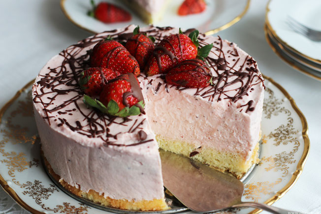 Erdbeer Käsesahnekuchen Rezept Oligarto Bio