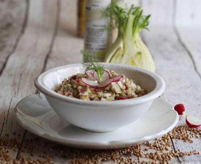 Buchweizensalat mit Radieschen und Fenchel Rezepte Oligarto