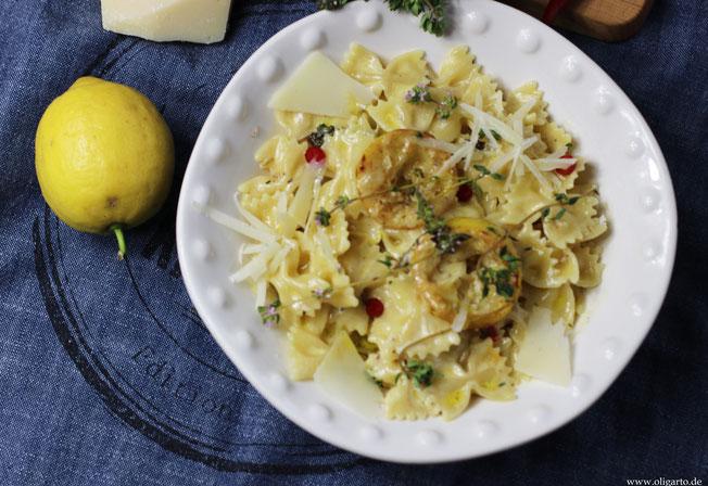 Pasta mit Zitrone und Thymian Oligarto Blogzine