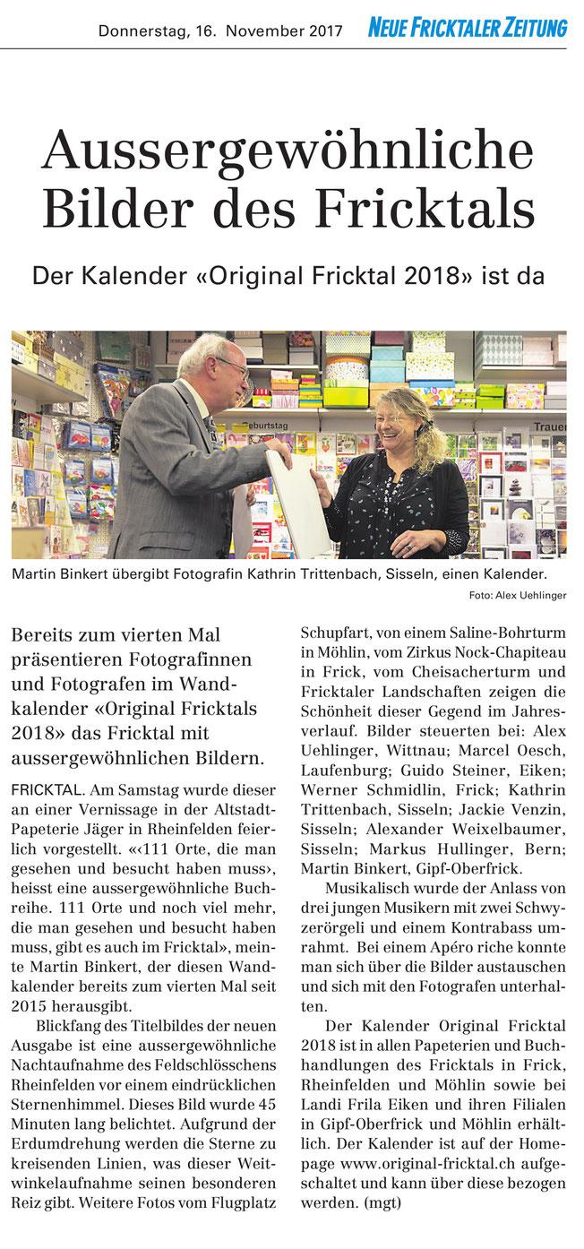 Original Fricktal 2018 - Neue Fricktaler Zeitung (16.11.17)