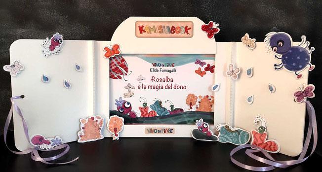 Kamishibai con il libro festa del papà regalo  rosalba e la magia del dono racconti valigia vendita teatrino burattini  ombre audiolibro cos'è