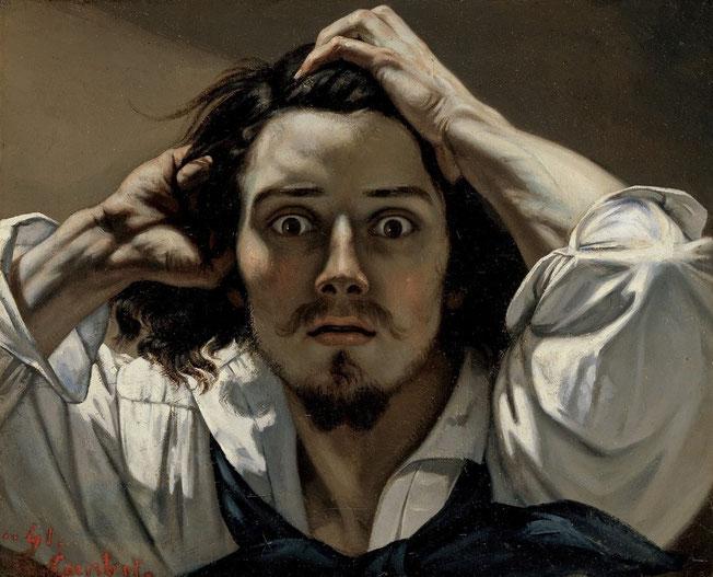 Le Désespéré (1843-45), Autoportrait, Gustave Courbet