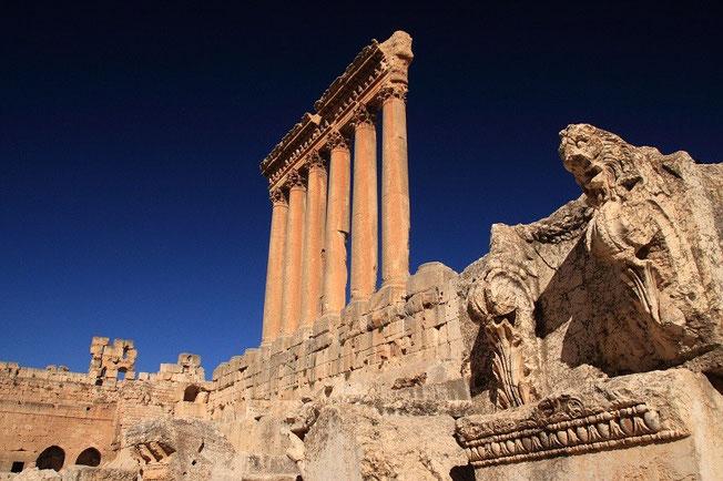 Temple de Jupiter à Baalbek au Liban