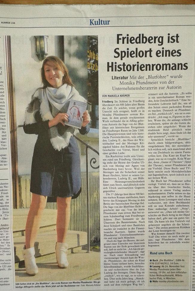 Text: Federkunst-Texte, Erschienen in der Friedberger Allgemeinen Zeitung, am 26.10.2016