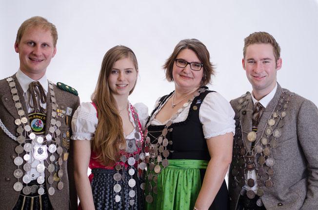 Andreas Weber (Luftpistole), Theresa Heuwieser (Jugend), Sylvia Haberstock-Kiesenbauer (Damen), Tobias Huber (Luftgewehr)