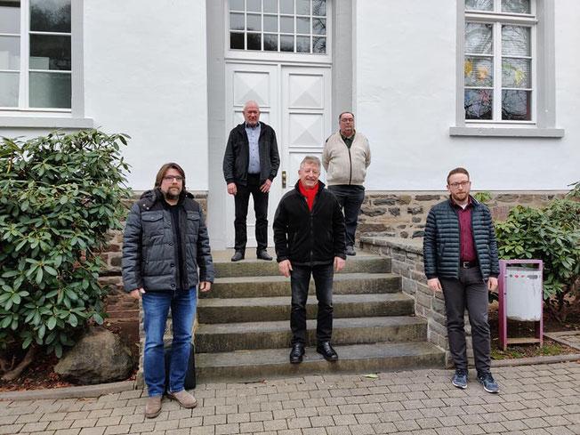 v. l. n. r. Christoph Schwarz, Jürgen Schneider, Fritz Schlagowsky, Heinz Funk, Sebastian Spies