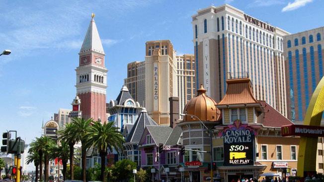 Reiseberichte USA: Las Vegas Strip. Rundreise USA.