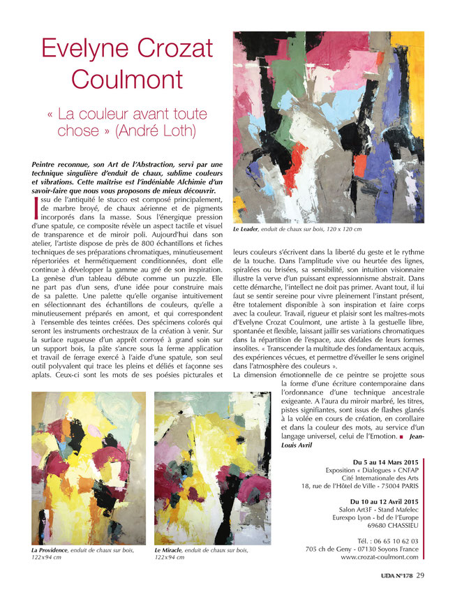 Art Abstrait Contemporain, Crozat, Coulmont