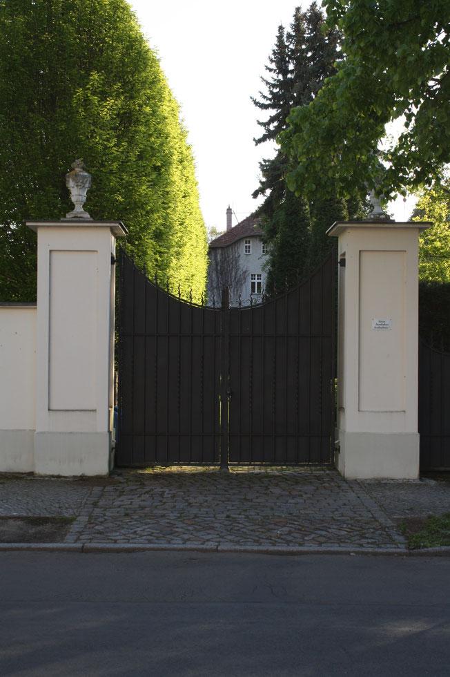 Klassische Toreinfahrt Immobilien Potsdam Vorfahrt Eingangstor