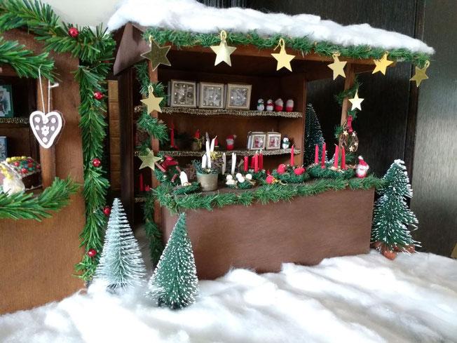 Mini-Weihnachtsmarktstand