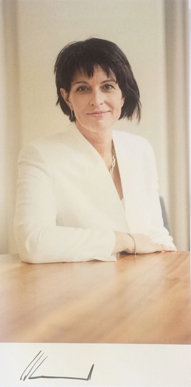 Doris Leuthard, retired, President of Switzerland 2010 and 2017, 2006- 2010 Federal Department of Economic Affairs , 2011-2017  Federal Department of Environment, Transport, Energy and Communications, Autograph by Mail