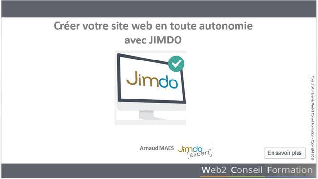 Formation : comment créer votre site web sous Jimdo afin d'être autonomie sur la mise à jour de ses contenus