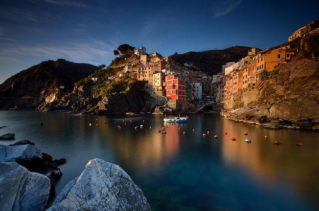 Hafen von Riomaggiore, Cinque Terre, Ligurien