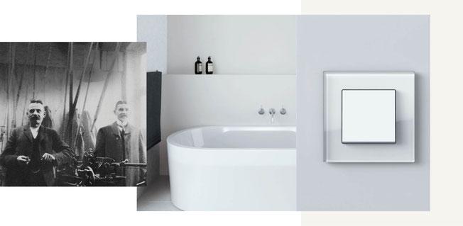 Gira ist bekannt für ihre schlichten und zeitlosen Schalter- und Steckdosenprogramme. Ihr klarer Anspruch an Qualität mit Produktion in Deutschland bietet Einsatz im gesamten Haus (Bad, Küche, Wohn-, Ess- und Schlafbereich).