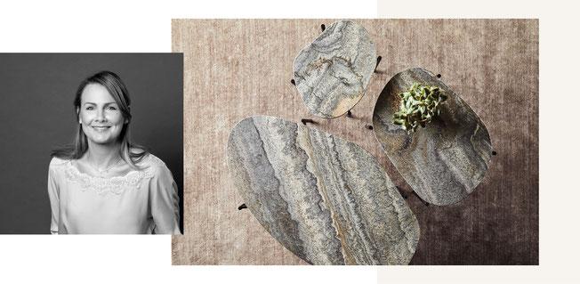 Agnes Morguet entwirft Leuchten und Möbel, alle Entwürfe sind elegant und natürlich. Das Handwerk ist Agnes Morguet als Schreinerin besonders wichtig, welches auch in den Tischen, Sofas, Sideboards und Leuchten sichtbar wird.