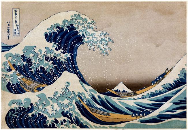 神奈川沖浪裏 (kanagawa oki nami ura), source wikimedia