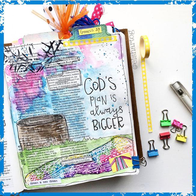 Biblejournaling voorbeeld Genesis 37 #biblejournalingchallenge40dagen