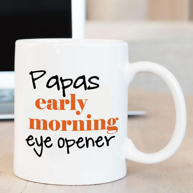 Bedruckte Tasse für Papa
