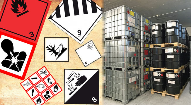 Gefahrengut ADR Lager Gefahrgut umwerltgefährdende Stoffe