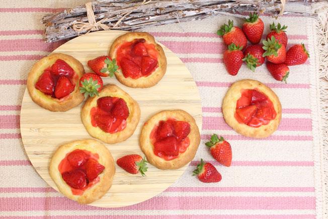 Erdbeer-Puddingteilchen