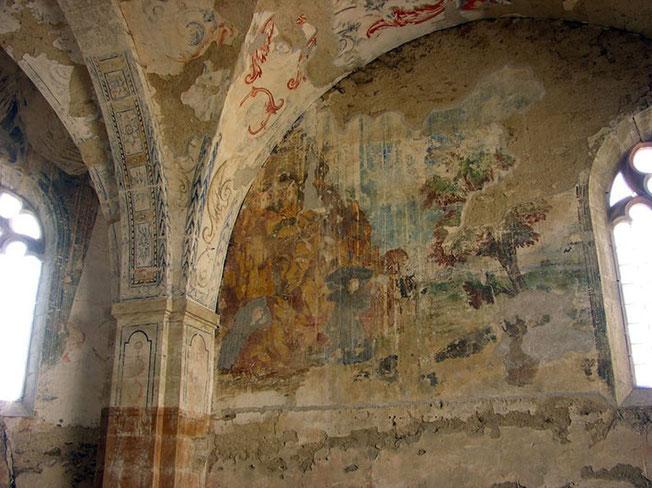 Fresque du XVe siècle de la vie de Saint François d'Assise : la stigmatisation