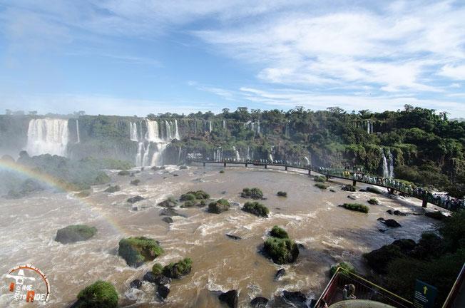 Brasilien - Motorrad - Reise - Worldtrip - Motorcycle - Südamerika - South america - Iguazu Wasserfälle mit Blick auf den Garganta do Diablo - dem Teufelsschlund.