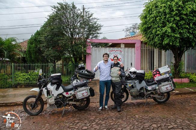 Paraguay - Motorrad - Reise - Worldtrip - Motorcycle - Südamerika - South america - Robert vomMotorradclub Los Caballeros Templarios in Ciudad del Este - Unser Gastgeber