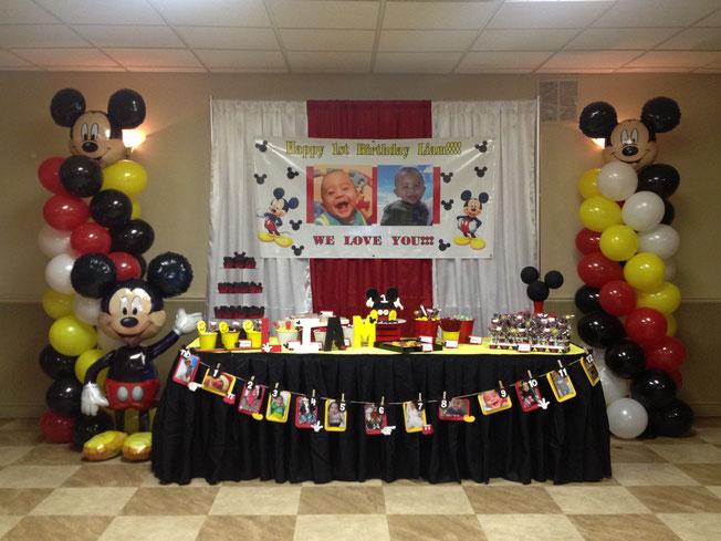 decoracion cumpleaños mickey