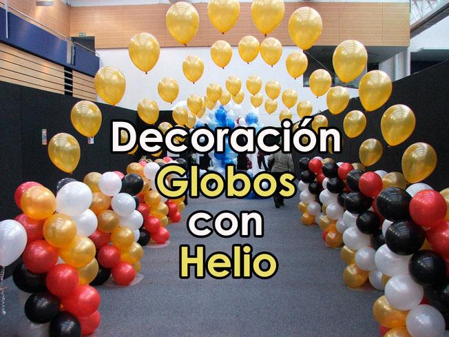 ideas de decoraciones de globos con helio