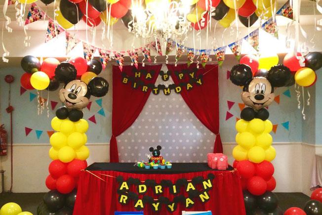 fiesta de cumpleaños mickey mouse
