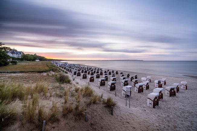 Langzeitbelichtung am Strand vom Ostseebad Binz