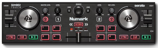 Numark DJ2GO2 Touch DJ-Controller für Anfänger