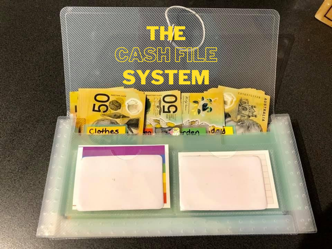 Budget, save money, cash file system,