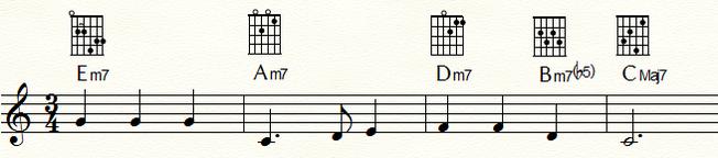 「ふるさと」 T代理-T代理-SD代理・D代理-T 進行例
