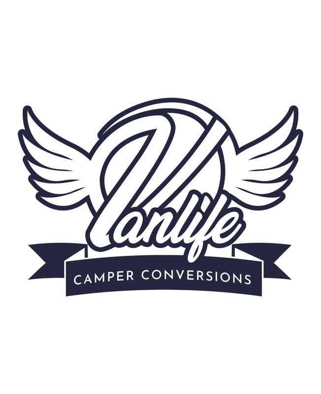 Simplified version of Vanlife Camper Conversions logo designed by Design By Pie, Graphic Designer North Devon