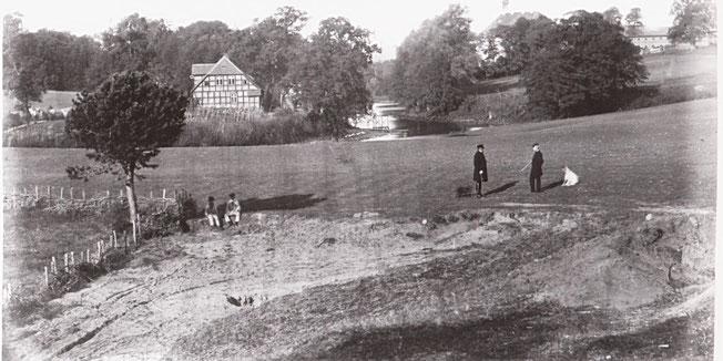 1873 wurde das Rettungshaus Bethanien in Rattey ein Opfer der Februar-Stürme.