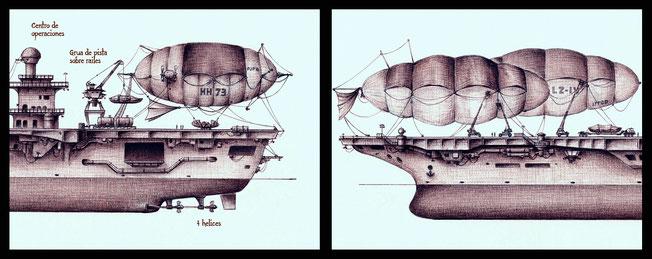 dibujos de maquinas, dibujos, arte fantastico, dibujo fantastico, dibujantes españoles, dibujos a boligrafo, maquinas fantasticas, dibujos de barcos, barcos fantasticos, dibujos de dirigibles