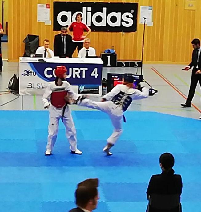 Taekwondo Hamm Kämpferin des HSC