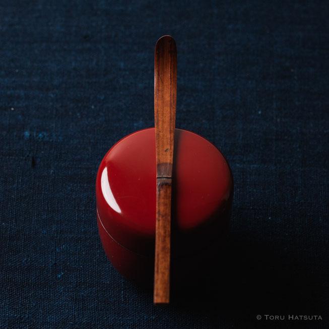 『煤竹旅茶杓.O』点前の際の目線のイメージで