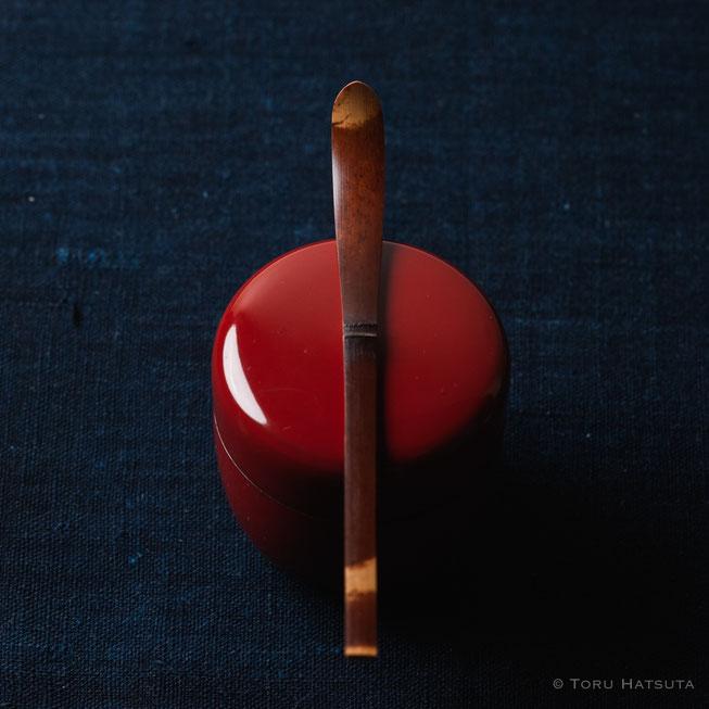 『煤竹旅茶杓.T』点前の際の目線のイメージで