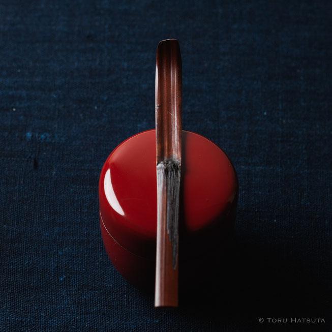 『煤竹旅茶杓.C』点前の際の目線のイメージで