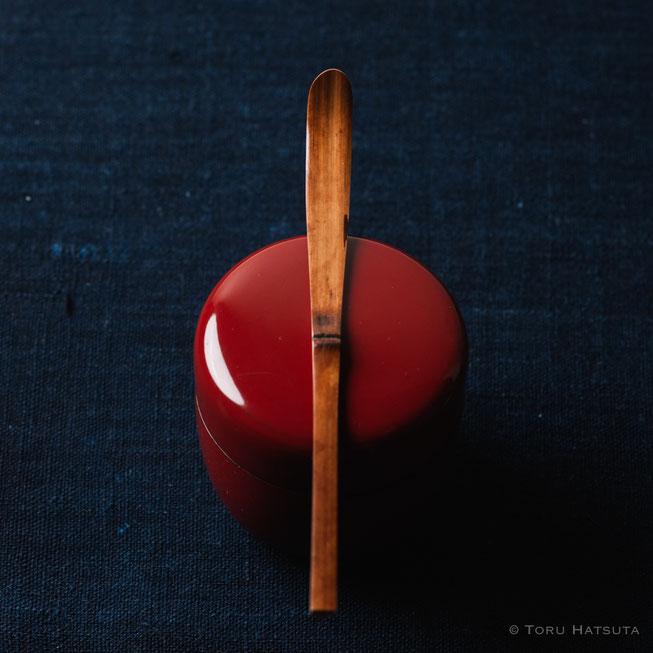 『煤竹旅茶杓.R』点前の際の目線のイメージで